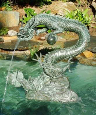 Water Dragon Fountain Small Brass Baron Fountains All
